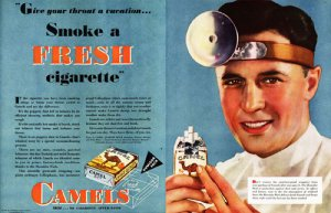 Camels-smoke-a-fresh-cigarette-doctor