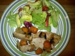 Roast pork, veg and salad