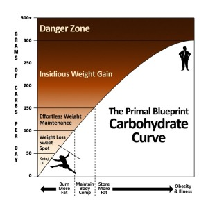 Mark Sisson's Carbohydrate Curve